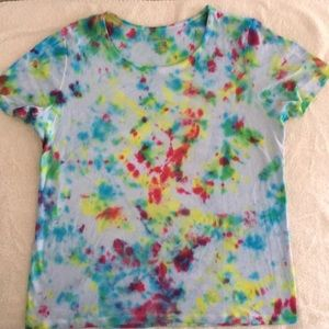 Tie-Dyed White Stag Tee, Size L (12/14)